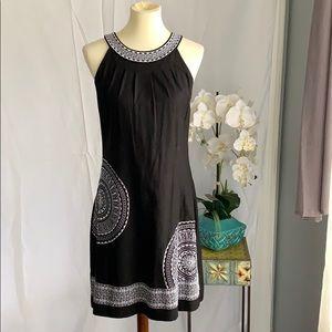Jessica Howard black and white linen dress 8
